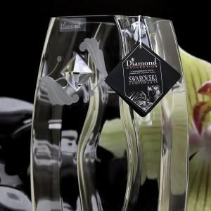 grawerowany wazon swarovski dla wikariusza