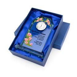 szklany zegar na podziękowania dla mamy
