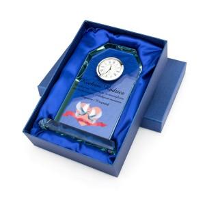 personalizowana statuetka z zegarem dla rodziców