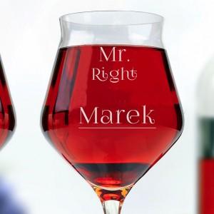 personalizowany prezent ślubny - kieliszki do wina