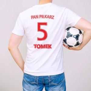 koszulka z nadrukiem na prezent dla piłkarza