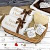 zestaw ręczników z haftem i kubków z nadrukiem na prezent dla rodziców