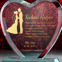 statuetka z personalizacją dla rodziców na podziękowanie ślubne