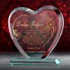 personalizowane serce szklane ze złoceniem na podziękowanie dla rodziców