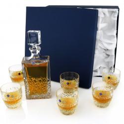 zestaw bohemia - karafka + szklanki z personalizacją