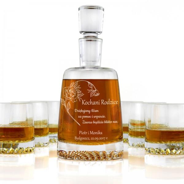 spersonalizowana karafka do whisky ze szklankami dla rodziców