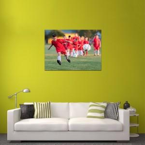 piłkarz na foto obrazie