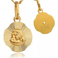 złoty medalik 585 na pamiątkę chrztu
