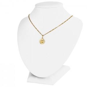 złoty łańcuszek z medalikiem na prezent