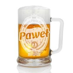 spersonalizowany kufel na piwo na dzień chłopaka