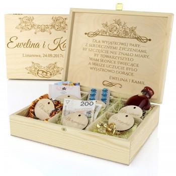 eb7b9fb632 Spersonalizowane pudełko z przegródkami na prezent dla nowożeńców