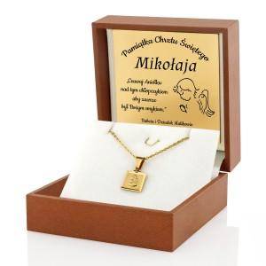 złota biżuteria na prezent dla chłopczyka na chrzest święty