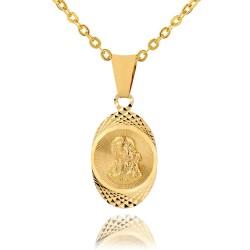 złoty medalik z grawerem dedykacji na prezent