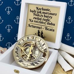 kompas z grawerem na prezent dla męża