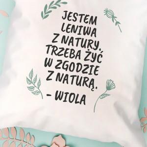 poduszka z zabawnym tekstem na prezent