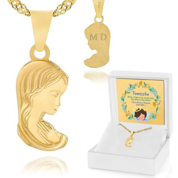 złoty medalik 585 z grawerem