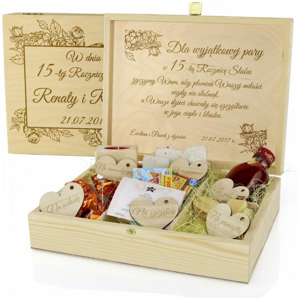 prezent na rocznicę ślubu skrzynka z pamiątkami