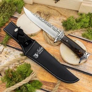 nóż mysliwski w czarnym etui