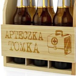 drewniana skrzynka urodzinowa na piwo dla mężczyzny
