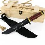 nóż szturmowy w drewnianej skrzynce z grawerem na dzień chłopaka