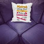 poduszka dla chłopaka z nadrukiem imienia