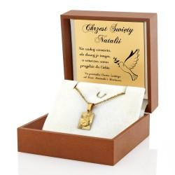medalik z grawerem na prezent dla dziewczynki na chrzest