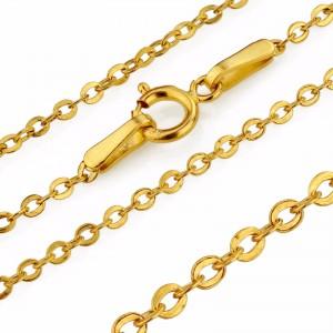 złoty łańcuszek  brilantana 585