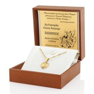 złoty medalik z Matką Boską na prezent na chrzciny