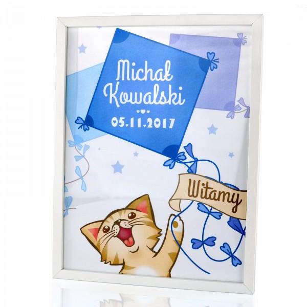 spersonalizowany plakat w ramce na prezent dla dziecka