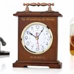 zegar kominkowy z grawerem na prezent na urodziny