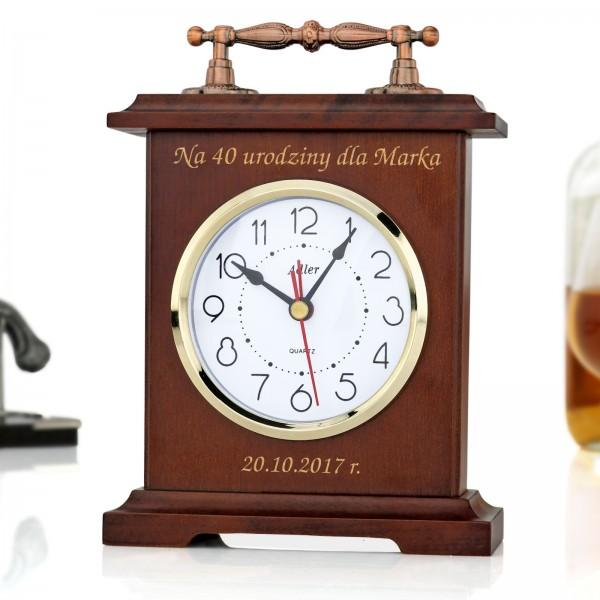 zegar kominkowy adler z grawerem na prezent