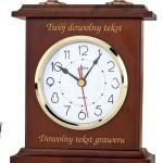 zegar kominkowy kwarcowy z grawerem na prezent
