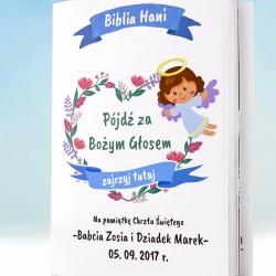 biblia na prezent z okazji chrztu z spersonalizowaną okładką