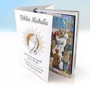 biblia dla dzieci z personalizowanej okładce upominek na komunię