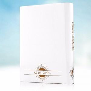 biblia na komunię z personalizowaną okładką na prezent