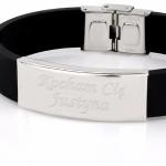 bransoletka ze stali i kauczuku na oryginalny prezent dla męża