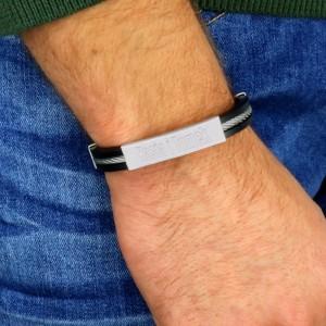 bransoleta dla mężczyzny z grawerem na prezent z okazji urodzin