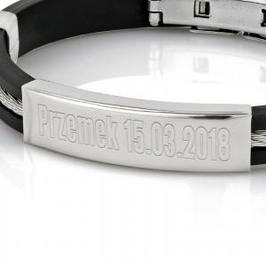 bransoletka dla mężczyzny z grawerem na prezent na urodziny