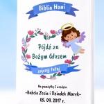 Biblia na prezent na pierwsze urodziny z personalizowana okladką