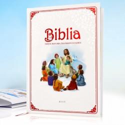 biblia dla najmłodszych na prezent na roczek z personalizowaną okładką