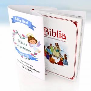 spersonalizowana biblia na prezent z okazji pierwszych urodzin