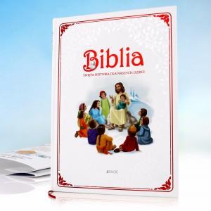 biblia z personalizacją na prezent z okazji chrztu