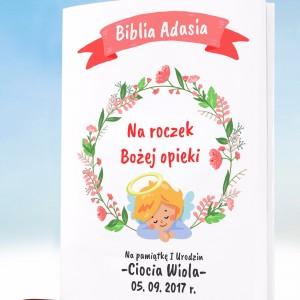 biblia na roczek z personalizowaną okładką