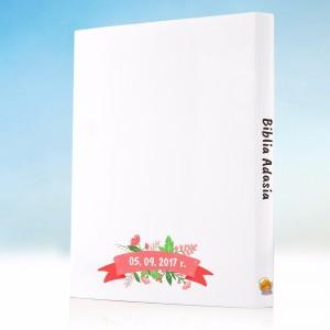 biblia na roczek z spersonalizowaną okładką dla dziecka na prezent