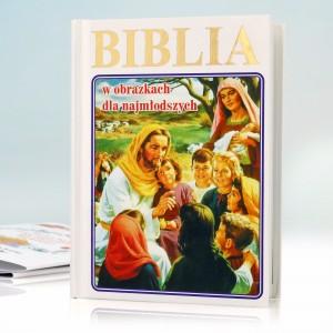 biblia z personalizacją na upominek z okazji chrztu