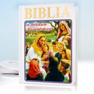 biblia w obrazkach na komunię z personalizowaną okładką