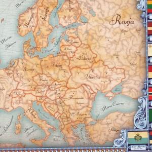 personalizowana mapa europy w ramie
