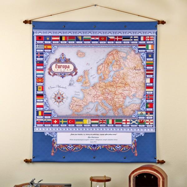 mapa europy na upominek dla przyjaciela