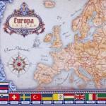 mapa europy z okazji urodzin na prezent