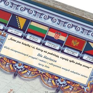 mapa europy na prezent na urodziny